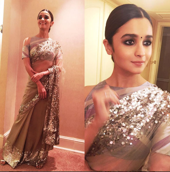 Bollywood style Wedding at the Ambani's | Alia bhat wears her first ever saree for Mukesh Ambani's niece's pre wedding party in a manish malhotra Saree