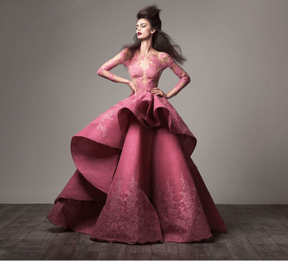 Cocktail Gowns for Indian Brides - Saaid Kobeisy | Reception Gown | Pink | Cocktail Gown | Bridal Wear | Indian wedding | Indian Brides| Bridal Fashion| Bride Gown Designer