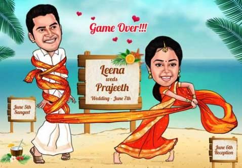 Unique Indian wedding invitation card ideas   Elocaricatures