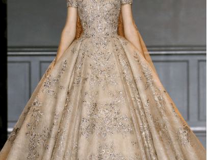 Reception Gowns for Indian Brides - Zuhair Murad| Reception Gown | Gold Cocktail Gown| Indian Bridal Wear| Indian Brides| Indian Weddings | Indian Gowns| Ballroom Gown