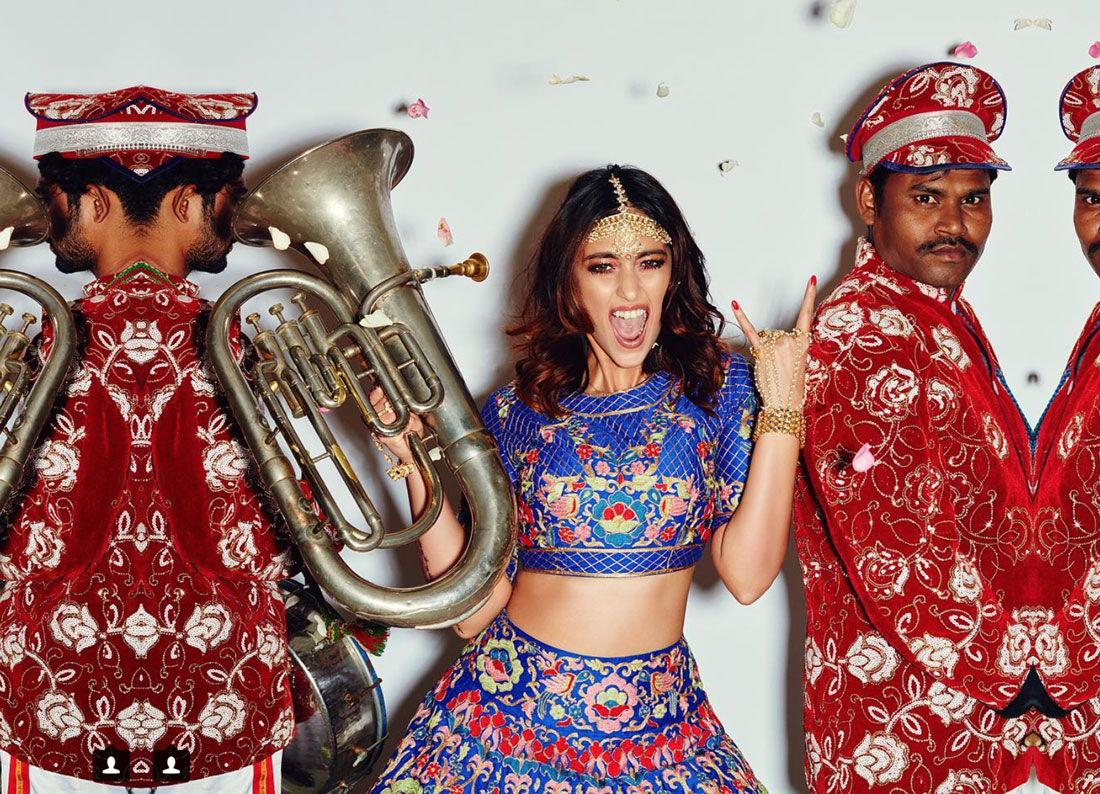 Ileana D'Cruz bridal shoot for Pernia's pop up shop | bride with band |modern Indian Bride | Bindaas bride