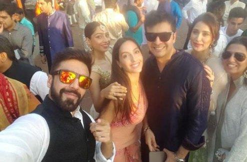 Yuvraj Singh's Wedding reception & Sangeet in Delhi | Ashish Chowdhry and Nora from big boss