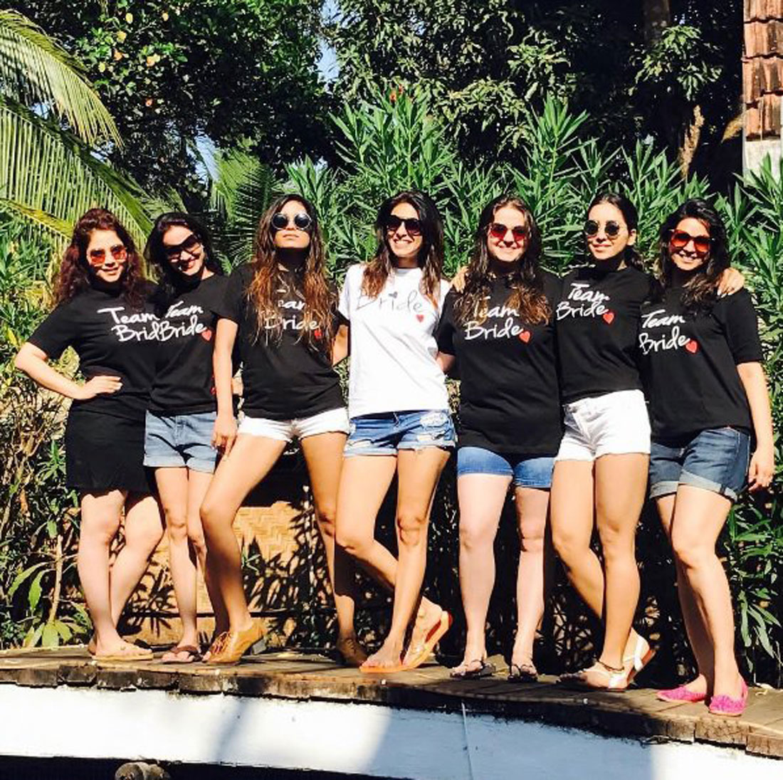 Kishtwar Merchant with her friend at her goa bachelorette party| Bachelorette party ideas