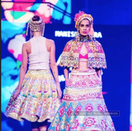 Model in a Manish Arora Shrug | Manish Arora's collection 2016 Blender's Pride | Mehndi outfit Ideas to steal from Manish Arora's New Collection