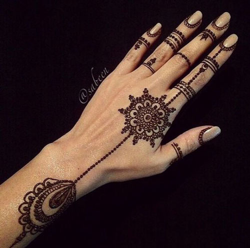 Beautiful Henna Mehndi Jewellery : Trending minimal new bridal mehndi design ideas for this wedding