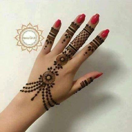 trending minimal new bridal mehndi design ideas for this wedding season | New jewellery design henna ideas