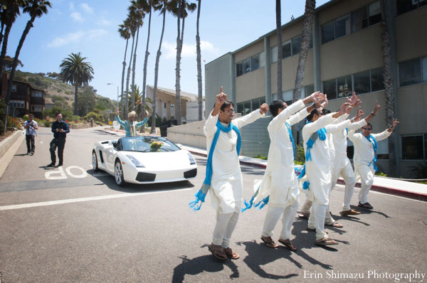 Indian groom enters in baraat in a sleek sports car| Curated by witty vows
