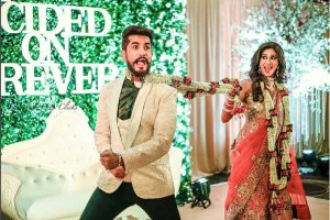 Suyyash and Kishwer's Wedding Reception photos | Couple photo ideas for Indian weddings