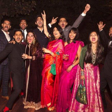 New Indian wedding ideas from VJ Yudi and Aditis Pretty Wedding | The MTV VJ gang and baraatis at the Yudita wedding