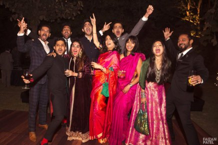 New Indian wedding ideas from VJ Yudi and Aditis Pretty Wedding | The MTV VJ gang and baraatis at the Yudita wedding