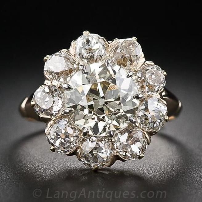 Trending New ideas for Engagement rings for Indian brides | Victorian Diamond Cluster Ring Setting for Indian Brides on a budget | Trending New wedding ring Design Ideas foe Indian Brides on a Budget