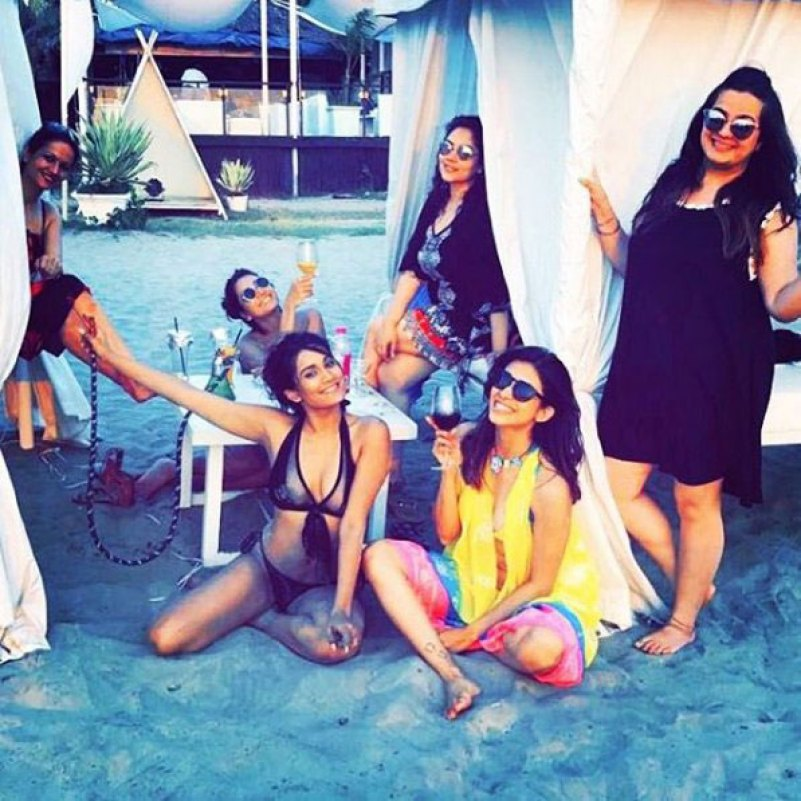 Indian Bachelorette Ideas - Kishwer Merchant's Bachelorette Party in Goa | Bachelorette on the beach in a private Cabana
