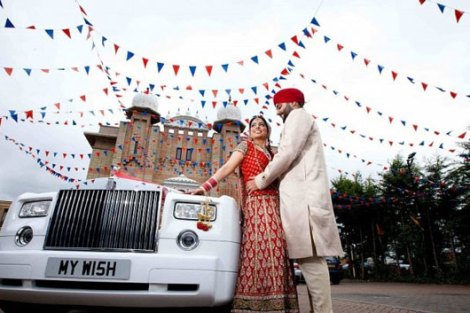 Groom and Bride exit ideas for Indian Weddings | vadai ideas | wedding send off ideas | couple exit ideas | Indian couple exit wedding groom and bride in a luxury car | Indian groom in a vintage car