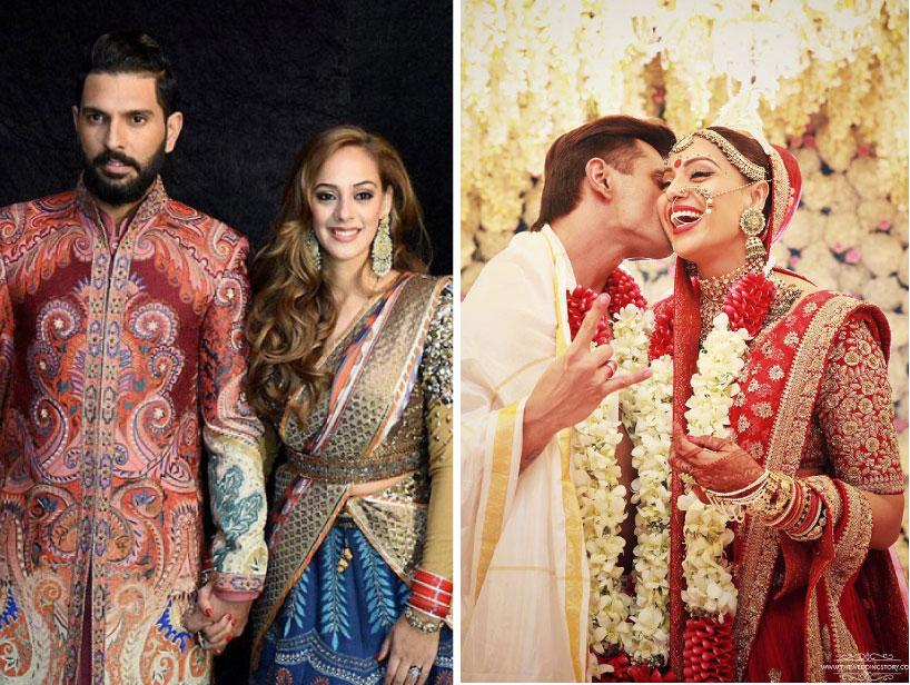 Top Indian Celebrity Weddings 2016 | Stunning wedding ideas Asin wedding, Yuvraj and Hazel Keech wedding, Bipasha Basu wedding , Divyanka Tripathi Wedding
