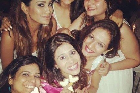 Indian Bachelorette Ideas - Kishwer Merchant's Bachelorette Party in Goa | Bachelorette brunches and dinners in pretty dresses