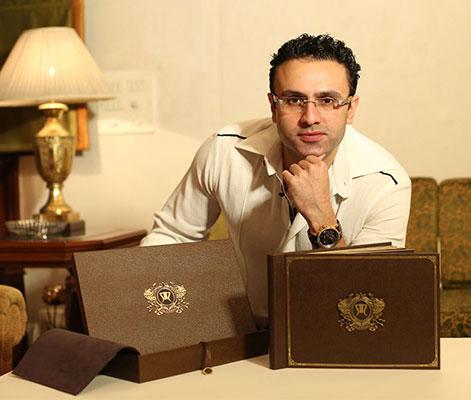 Neil nitin makes and wife rukmini | Indian wedding card ideas | Indian wedding invite ideas | Neil nitin mukesh's wedding card | Love Ballads by Mukesh | designed by Ravish kapoor