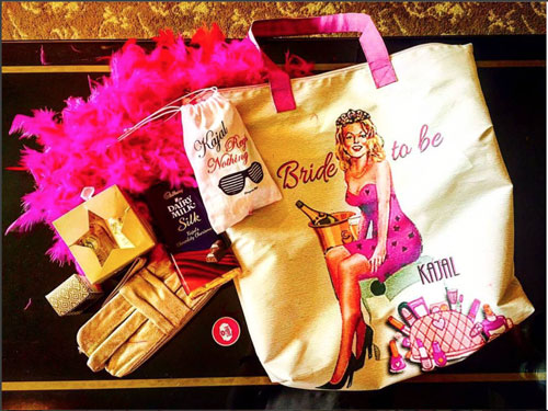 Indian Bachelorette party checklist | Indian bachelorette party ideas | hens party | Checklist for Indian Bridesmaids | Indian bachelorette party gifts for the bride | cute bags and fun gets for the bride on her bachelorette