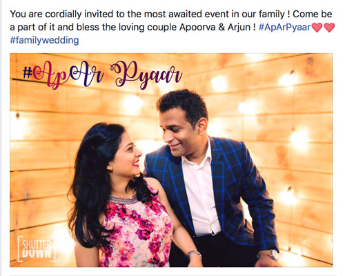 Amazing Indian wedding hashtag ideas from real weddings | How to make a wedding hashtag | Apoorva and Arjun Wedding | Photo Shutter down | Pre wedding shoot ideas