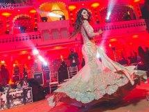 Bride in gold gown twirling at her sangeet | Sangeet songs | Dream Diaries | Rajasthan wedding | Zeanana mehal