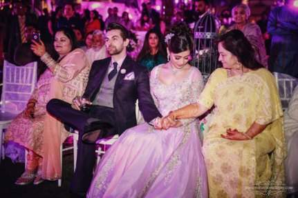 Neil-nitin-mukesh-with-wife-rukmini-and-mother-at-wedding
