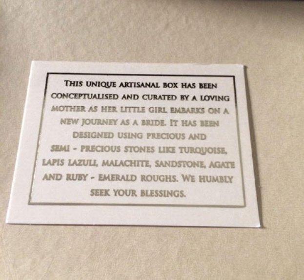 unique new wedding card idea  Indian wedding invite box with stones
