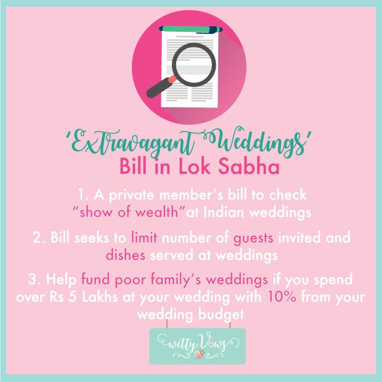 extravagant wedding bill in Lok Sabha highlights