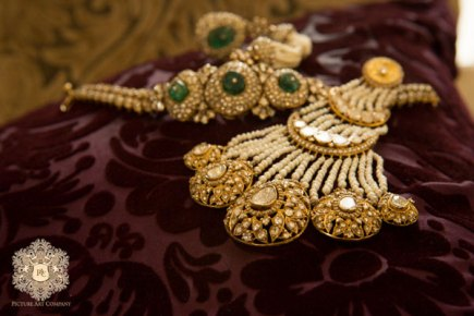 Ridhi metre's polka jewellery from the wedding