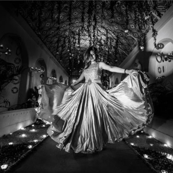 must have wedding pics for your wedding album | the bridal twirl photos | Indian bride in a gown | black and white wedding photos