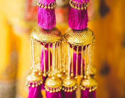 chura kalire designs | new kalire designs | kalira designs | Purple tassel in gold kalira with ghunghroo