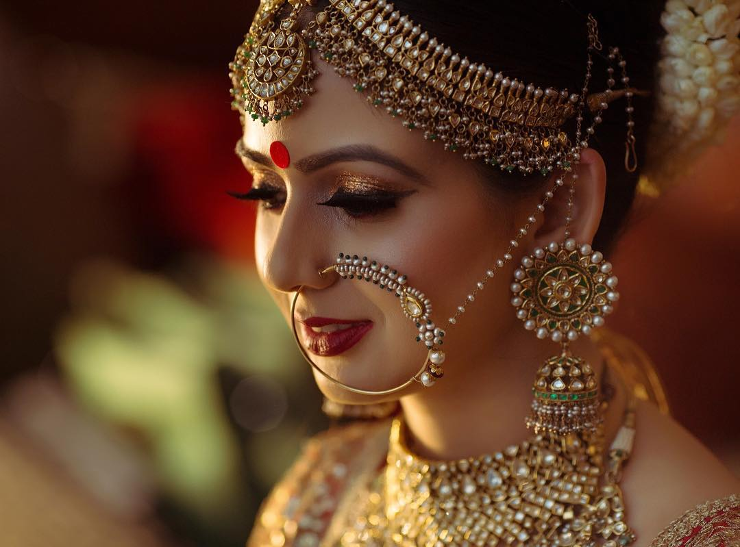 Bridal Nose Ring Ideas Stunning Bridal Nath designs that Indian