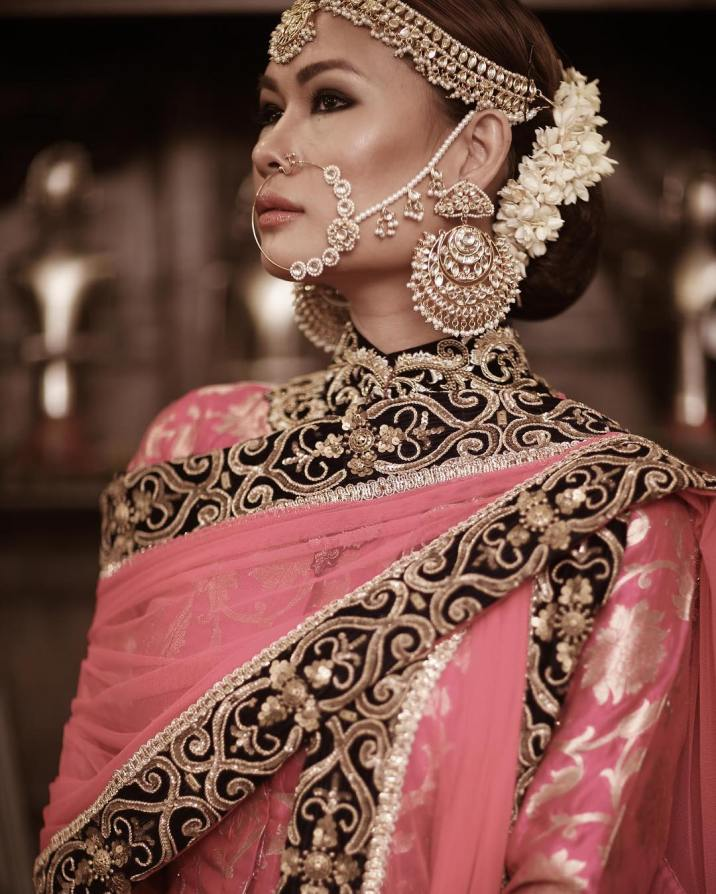 Bridal nose ring ideas | Indian Bridal Jewellery- Nath | Indian brides | naths | instagram |stunning brides | Indian wedding inspiration | by wittyvows | Morvi Images