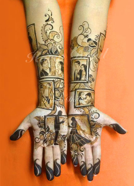bridal mehndi design | Mehndi idea | Henna designs | Henna story with couple's love story | Harin Dalal