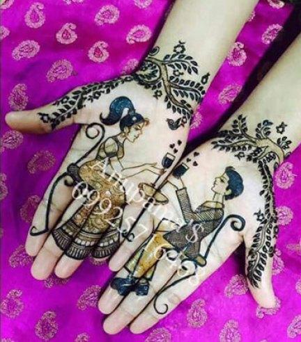 bridal mehndi design | Mehndi idea | Henna designs | Henna story with couple on a date