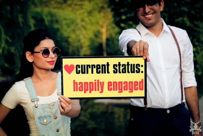 Indian couple proposal shoot