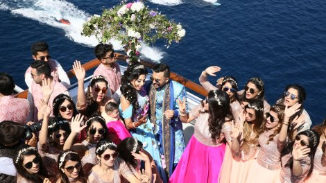 Adel and Sana Daytimee Spanish Cruise wedding | The dil dhadakne do wedding
