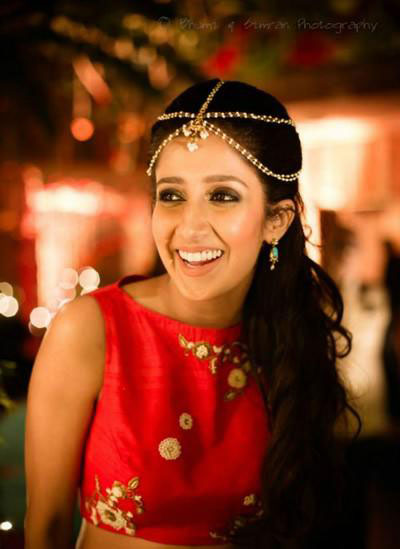 5 line simple mathaptti | bride at her sangeet