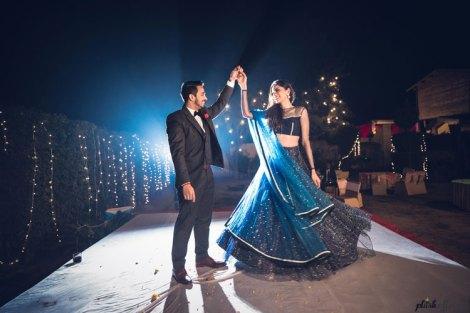 JyotPriya and Nishant | Punjabi wedding in Delhi | The bride and groom dancing together.