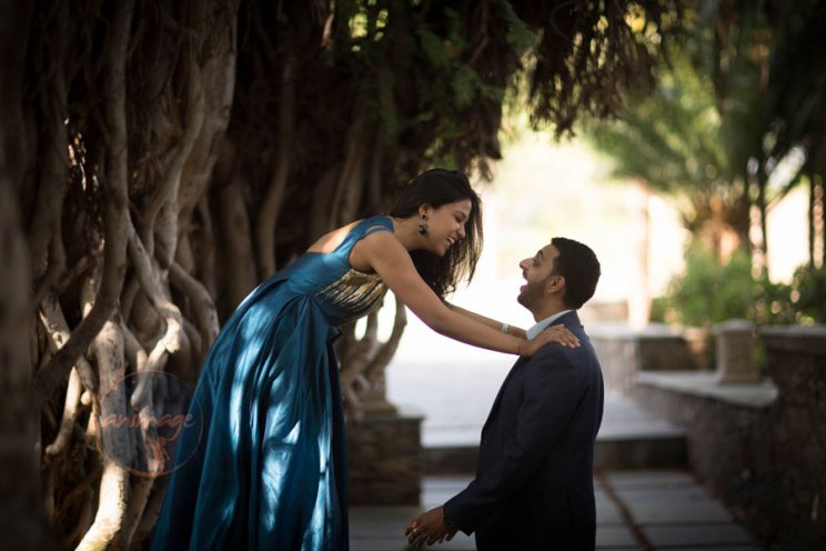 Anukriti and Siddharth | Delhi Wedding full of simple nd fun wedding ideas | Photo by AnImage Productions | Pre wedding shoot ideas | bride in a blue gown with groom | indian wedding shoot