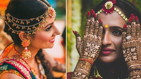 Mathapatti Ideas for the Indian Bride | Flower and Gotapatti mathapatti