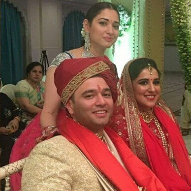 Tamannaah Bhatia at her brothers wedding in Mumbai flaunting pretty sister of the groom looks