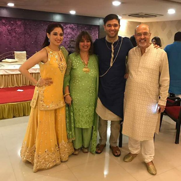 Tamannaah Bhatia at her brothers wedding in Mumbai flaunting pretty sister of the groom looks | sister of the bride fashion | Tamannaah Bhatia wears a pretty yellow gharana for her brothers wedding