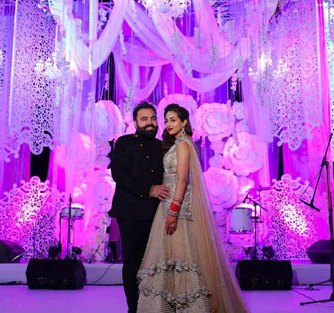Bavleen and Kushal | Destination wedding in Goa | The couple in their perfect reception look.