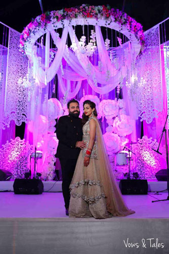 Bavleen and Kushal   Destination wedding in Goa   The couple in their perfect reception look.