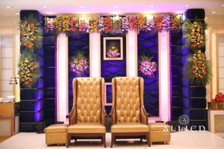 Roka ceremony in delhi, Raveena and Dipanshu   Couple chairs in gold