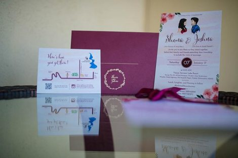 Joshua and Shona | Christian wedding | DIY ideas | The cutely done wedding card with all the little details.