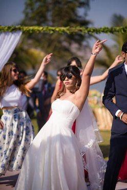 Joshua and Shona   Christian wedding   DIY ideas   The bride dancing effortlessly on her big day.