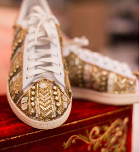 Studded sneakers for brides