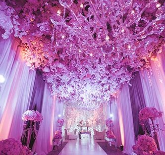 Sagar and Subiya | Destination wedding in Bali | The LED light decor in white ambience looked great.