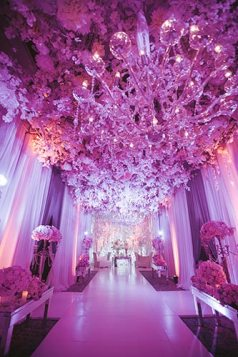 Sagar and Subiya   Destination wedding in Bali   The LED light decor in white ambience looked great.