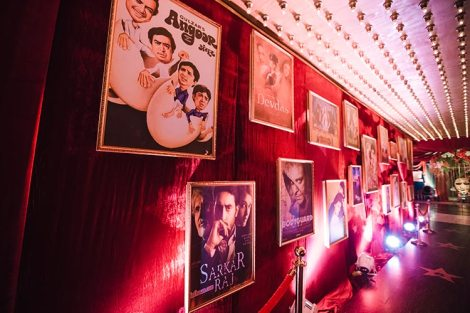 Sagar and Subiya | Destination wedding in Bali | The amazing movie posters at the bollywood inspired party.